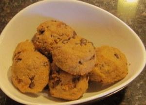 cashew butter chocolate cookies
