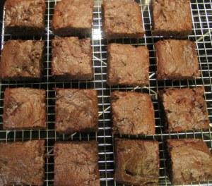 mocha cherry brownies